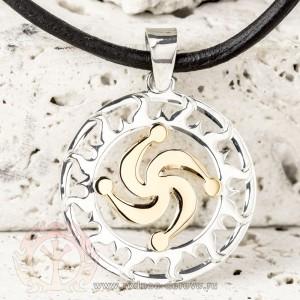 Оберег Символ Рода из золота и серебра